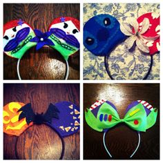 Past Made-to-Order Ears. Lilo and Stitch, Toy Story and Little Mermaid
