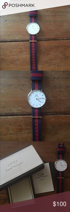 Women's Daniel Wellington Canterbury Watch Rose Gold. No Scratches. NATO strap. Daniel Wellington Accessories Watches