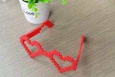 3D Perler Bead Ideas- How to Make Heart Perler Bead Glasses