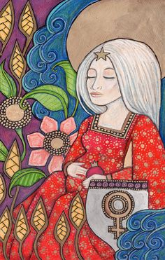 The Empress Tarot Card - Mother Earth / Gaia Painting --> http://All-About-Tarot.com <--