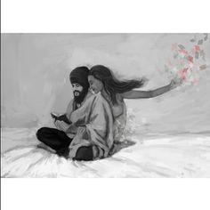 "the artist's canvas ""trying all sorts of things, I grow weary, but still, they will not leave me alone…"" beautiful art by RGx Singh 🙏🏽 Gurbani Quotes, Sikh Quotes, Punjabi Quotes, Guru Arjan, Shri Guru Granth Sahib, Guru Gobind Singh, Art Hub, Artist Canvas, Illusions"