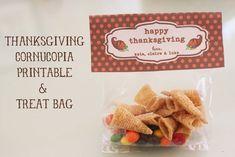 The Larson Lingo: Thanksgiving Cornucopia Treat Bag + {Free Printable}