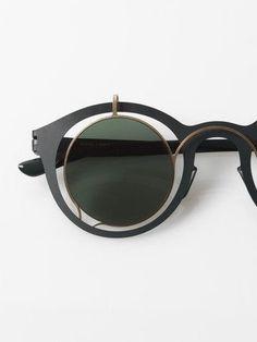 c72ace30b7c8a TRENDING  Round John Lennon inspired sunglasses by Mykita + Damir Doma    Bardfield   forest green Zippertravel.