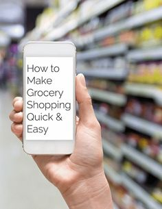 How To Make Grocery Shopping Quick and Easy - Learn the secrets to saving time by grocery shopping more effectively!   Foodfaithfitness.com   @FoodFaithFit
