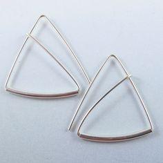 sterling silver wire earrings from CecileStewartJewelry on Etsy