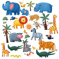 Buy Jomoval Jungle Adventure Wall Stickers Online at johnlewis.com