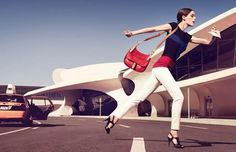 Longchamp Spring 2013  Coco Rocha photographed by Max Vadukul.