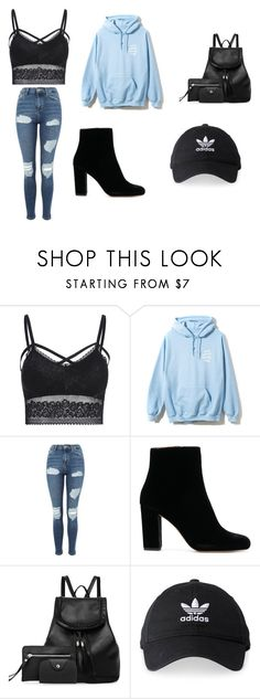 """Untitled #50"" by cuddlekins on Polyvore featuring Topshop and adidas"