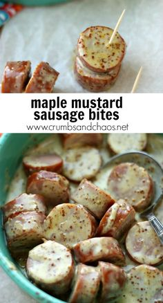 4 ingredient appetizer for the win Maple Mustard Sausage Bites are easy to make