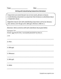 Adding Subordinate Clauses Worksheet | Englishlinx.com Board ...