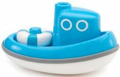 Find your sea legs with this floating tugboat by Kido, with detachable life buoy. Perfect for any skipper's bath time. Age 12m+ http://www.kandkcreativetoys.com.au/baby-and-toddler/bath-toys/kid-o-tug-boat-blue