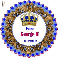 """40 Round Labels 2"""" Personalized Prince Stickers, Prince Custom Hangtags, Party Favors Labels, Cupcake Toppers, Choice Of Size - Cake and cupcake toppers (*Amazon Partner-Link)"""