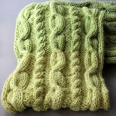 cable stitch knit scarf free pattern
