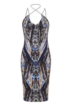 Forever Unique Pauline Bodycon Dress in Snake Print