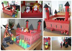 Een leuk idee voor een verjaardagsfeestje...We maken samen een kasteel, met koning en koningin, met vuurspuwende draak en ridder en rover...Het kasteel blijft bij de jarige, de gasten nemen hun popjes mee naar huis als aandenken aan een leuke dag.  Meer info: http://bien-knutseltrien.123website.be