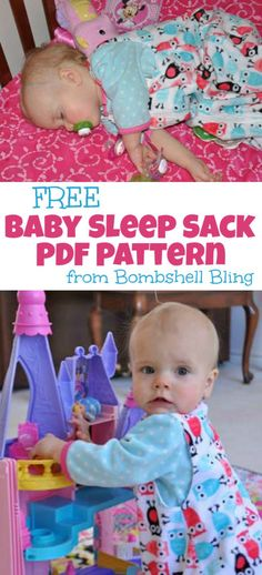 FREE Baby Sleep Sack PDF Pattern from Bombshell Bling - for when baby B outgrows the swaddlers.