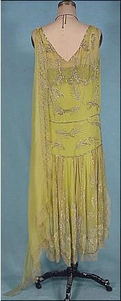 Image result for yellow chiffon flapper dress
