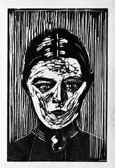 Edvard Munch - Inger Munch, 1908-1909, Woodcut