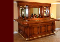 Residential Bars and interior woodwork by Wood & Laminates, Inc ...