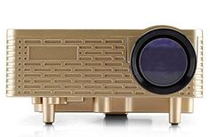 Mini Projector - 60 lumen, 300:1 Aspect Ratio, 5 terminali di ingresso Oro