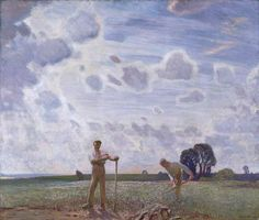 In the Fields in June by George Clausen