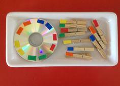 Colour activities for kids ! Montessori Classroom, Montessori Toddler, Montessori Activities, Color Activities, Toddler Learning, Infant Activities, Preschool Activities, Montessori Practical Life, Preschool Colors