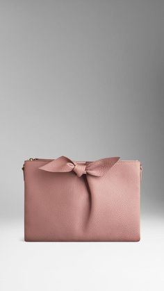 Burberry Knot  Leather Clutch Bag