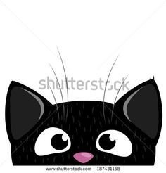 Peeking Out Curious Cat stock vector - Clipart. Cat Clipart, Cat Vector, Vector Clipart, Cat Template, Cat Background, Cat Quilt, Curious Cat, Cat Silhouette, Cat Crafts