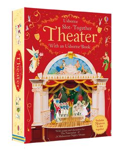 Slot-Together Theater Slot the different pieces together in order to build your own theater. There are set pieces to create and play out two famous plays: The Nutcracker and A Midsummer Night's Dream. There's different scenery to slot into the theater for scene changes and of course, all the characters and everything you need to put on those two productions. There are six sets of scenery altogether. In the book, you get text and instructions for how to put the plays on, as well as QR codes…