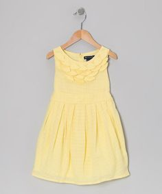 Take a look at this Yellow Daneila Dress - Toddler & Girls by Periwinkle on #zulily today! I think this is my favorite so far and would look really nice with the bridesmaid dresses
