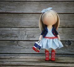 Handmade Decor doll red blue blonde Home doll Art doll Gift doll Soft doll Girl…