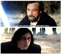 #Star Wars #Last Jedi #Luke Skywalker vs Kylo Ren