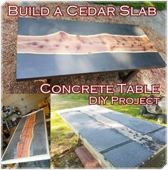 Build a Cedar Slab Concrete Table DIY Project Homesteading  - The Homestead Survival .Com
