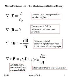 2 Part 21 Maxwell's Equations of the Electromagnetic Field Theory Gauss's Law – charge makes an electric field The magnetic field is solenoidal. Mechanical Engineering Courses, Engineering Subjects, Electronic Engineering, Electrical Engineering, Engineering Universities, Aerospace Engineering, Theoretical Physics, Physics And Mathematics, Gauss's Law
