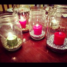 Glitter centerpieces. great for any occasion!