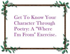 Getting to Know Your Character Through Poetry | Thinking Through Our Fingers
