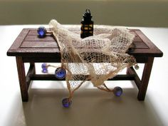 fishing net with cobalt blue glass floats by graceewhite, via Flickr