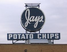 Jays Potato Chips--bought out by Snyders of Hanover.Jay's was considered a Chicago institution. Jap's was surname of the founding family. The name change due to concern about anti Japanese sentiments. South Side Chicago, Chicago Area, Chicago Style, Chicago Illinois, My Kind Of Town, My Town, Calumet City, Chicago Pictures, Gary Indiana