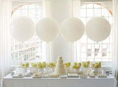 I will have balloons at my wedding. They will be big and round and beautiful!