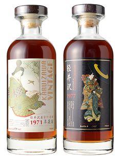 Karuizawa 1971 & 1977 Single Malt for Taiwan Bourbon Whiskey, Scotch Whisky, Karuizawa, Japanese Whisky, Bottle Design, Distillery, Whiskey Bottle, Alcoholic Drinks, Pure Products