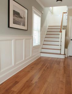 beadboard board and batten style - make taller and add hooks for towels - like the beadboard inserts