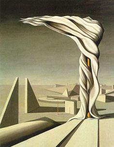 Surrealist women - I Saw Three Cities by Kay Sage (1898–1961).  The wife of Yves Tanguy.