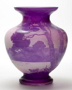 Andre Delatte Single Layer Cameo Glass   c. Mid 1920's