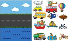 Transportation Preschool Activities, Nursery Activities, Preschool Learning Activities, Preschool Worksheets, Infant Activities, Teaching Kids, Alphabet Worksheets, Kids Education, Kids And Parenting