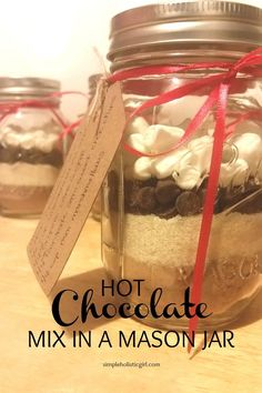 Hot Chocolate Mix in a Mason Jar - Great Holiday Gift!