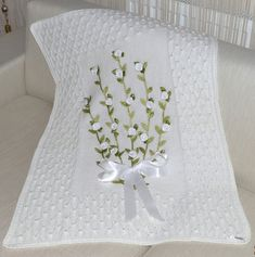 Crochet, Knit, and Felt — antibacterial wool baby blanket roses with...