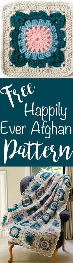 Love this free pattern - Happily Ever Afghan Block