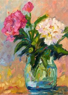 """Daily Paintworks - """"Brighten My Day"""" - Original Fine Art for Sale - © Liz Zornes"""