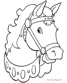 Horse coloring pages - Beautiful horse