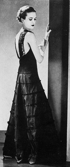 Robe du soir, 1930s